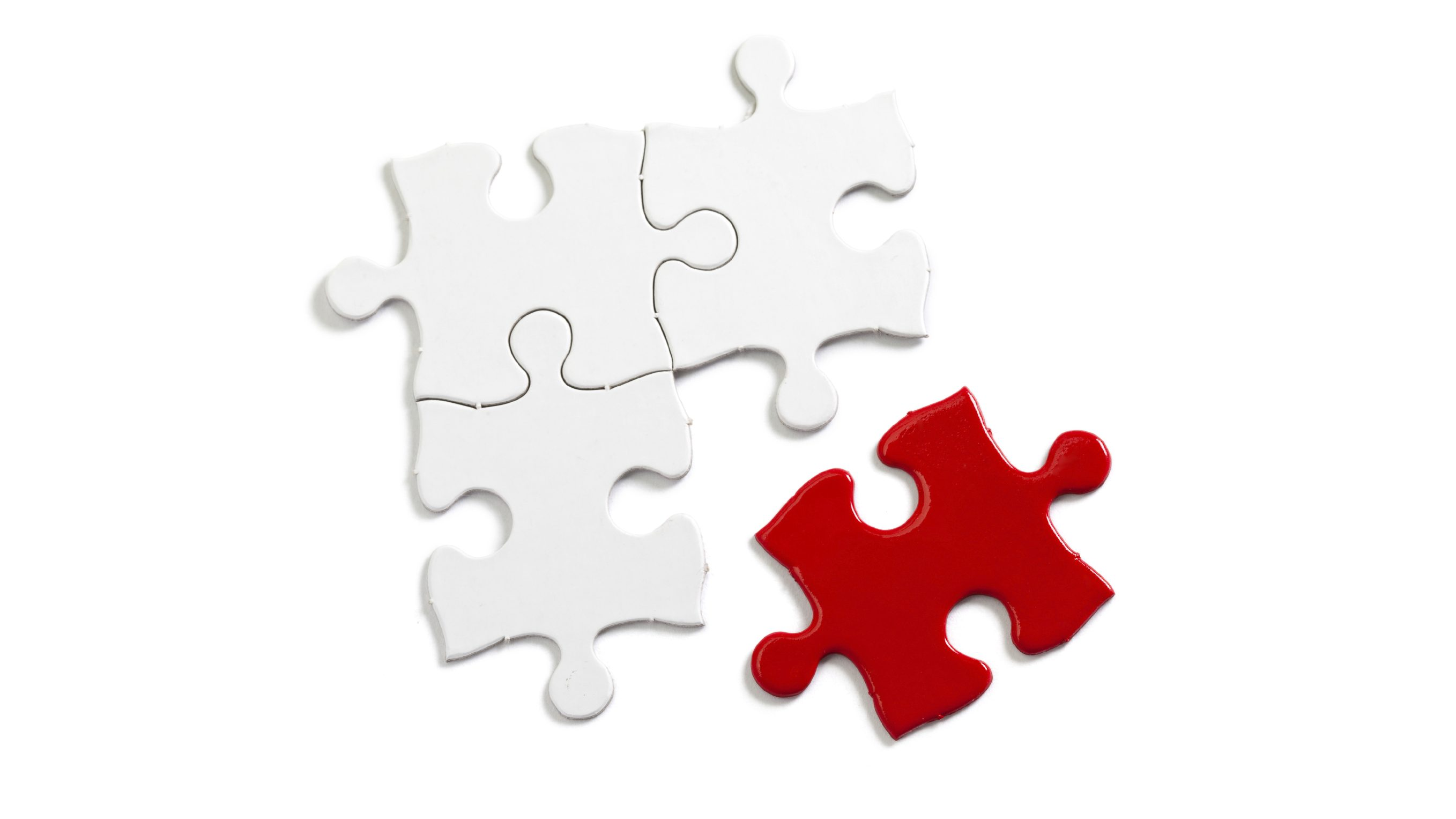 Red Puzzle, business concept of Solution