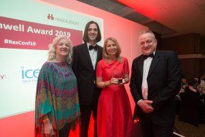 Elaine Richardson is awarded the John Cornwell award