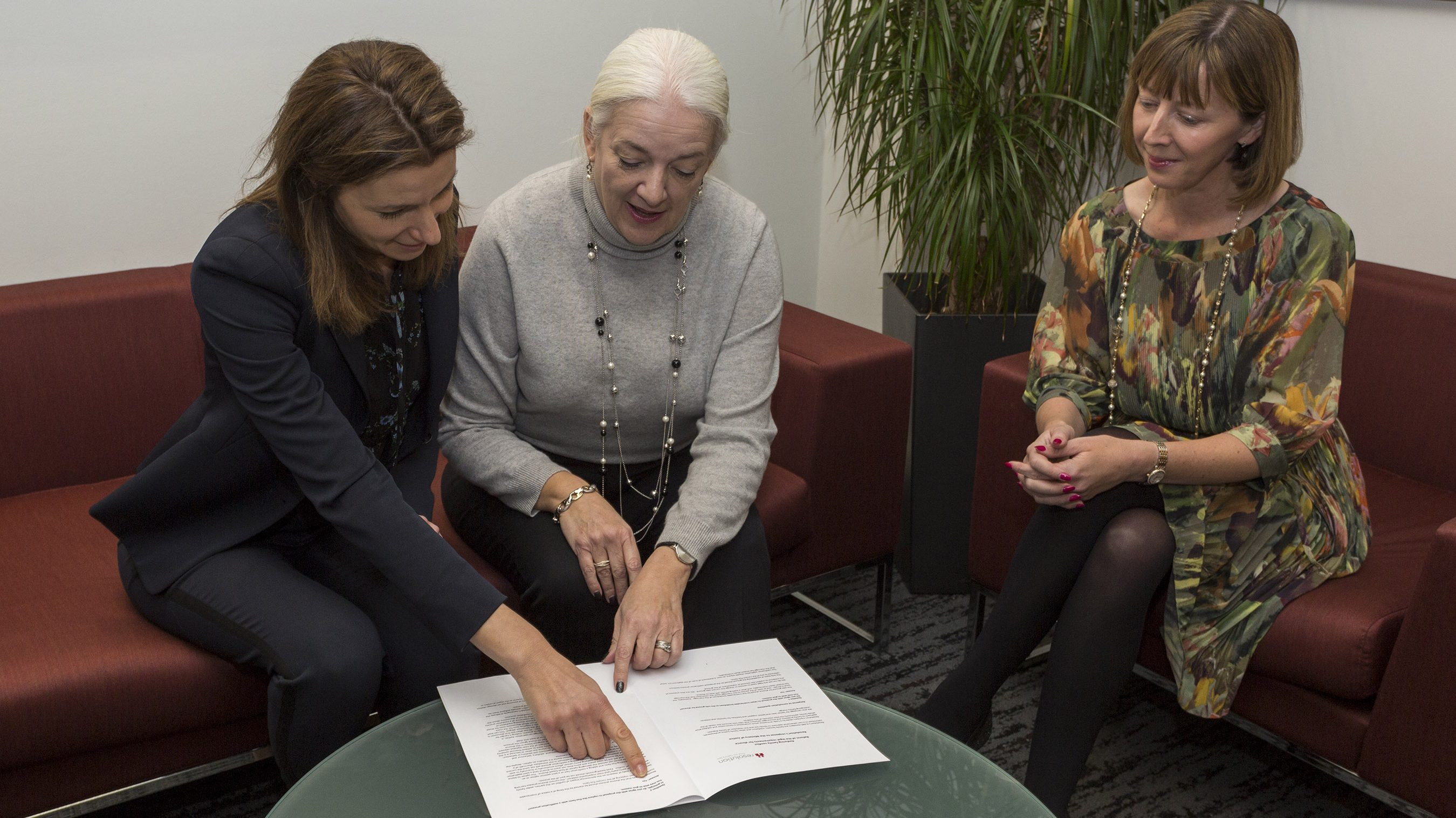 Family Justice Minister Lucy Fraser, National Chair Margaret Heathcote and Family Law Reform Group Chair Jo Edwards discuss Resolution's response to the divorce law reform consultation
