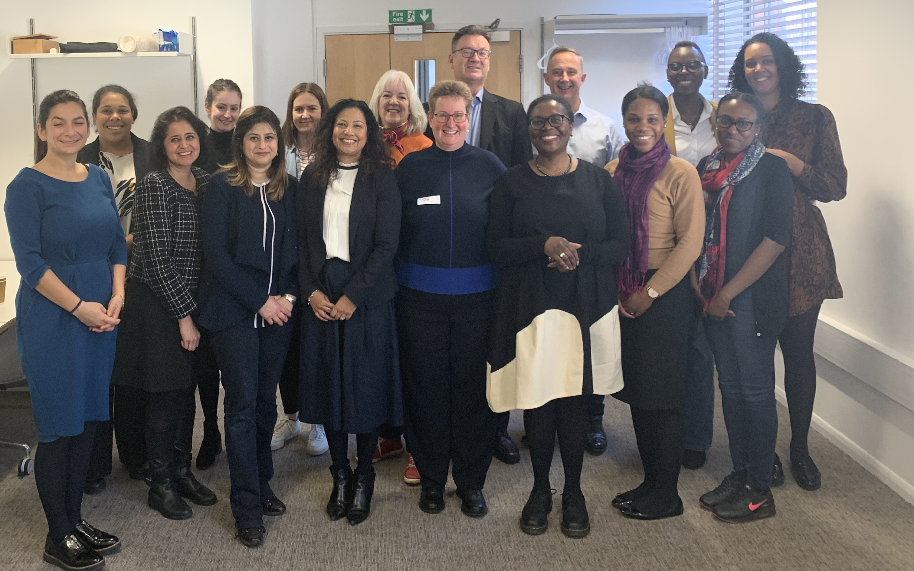 Members of the Equality, Diversity and Inclusion (EDI) Committee pictured at Resolution HQ.