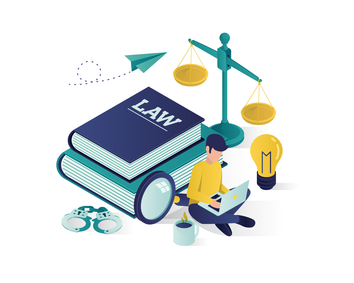 justice and law isometric illustration , law firm isometric illustration, judgement isometric illustration for website landing page,banner,infographic,presentation illustration vector